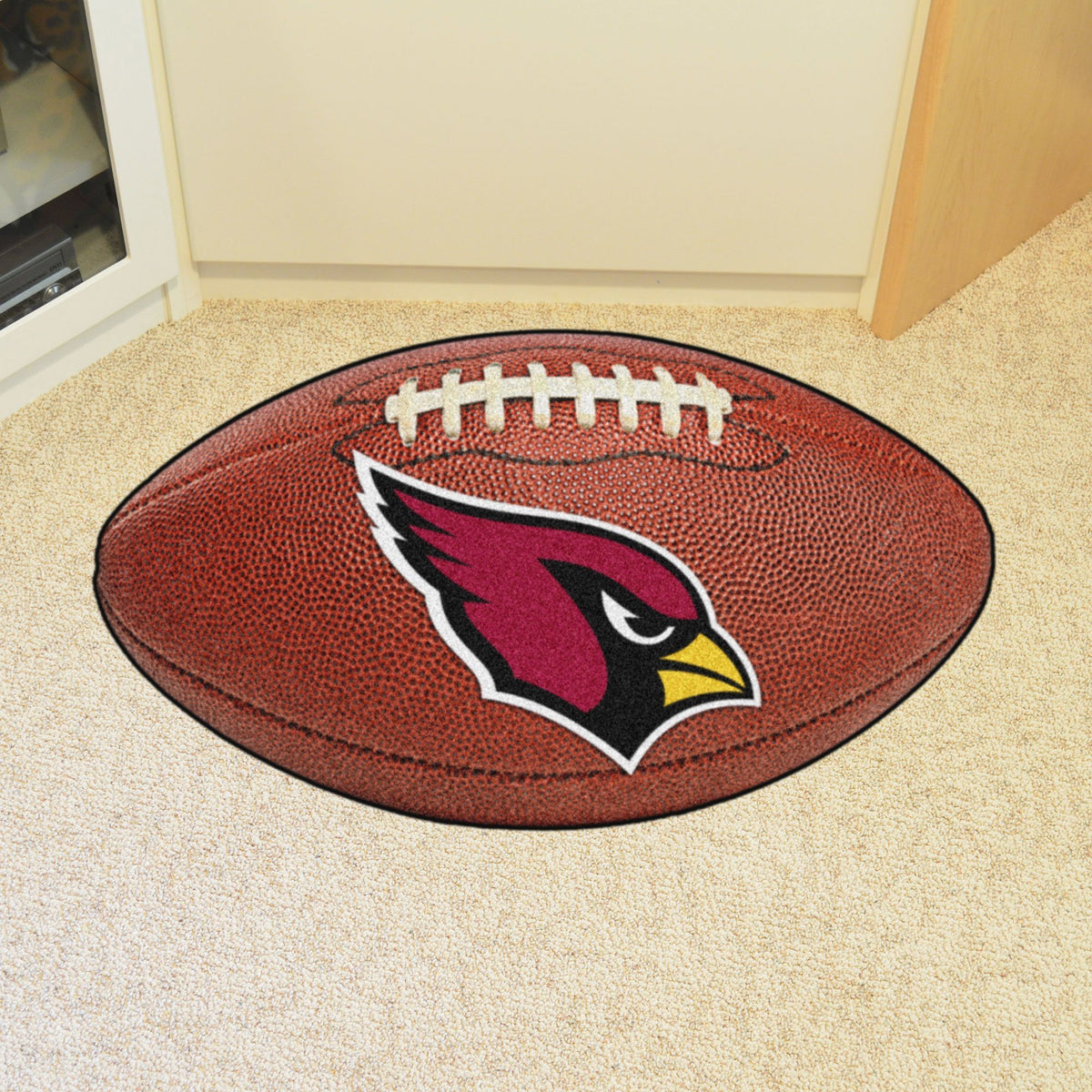 NFL - Football Mat NFL Mats, Custom Shape Rugs, Football Mat, NFL, Home Fan Mats Arizona Cardinals