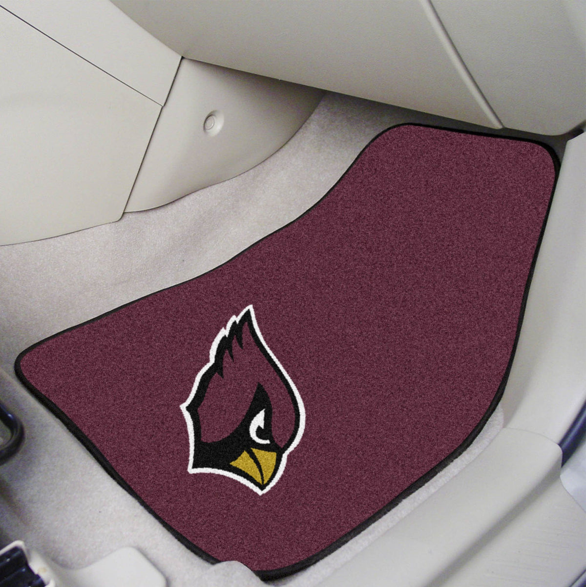 "NFL - 2-pc Carpet Car Mat Set, 17"" x 27"" NFL Mats, Front Car Mats, 2-pc Carpet Car Mat Set, NFL, Auto Fan Mats Arizona Cardinals"
