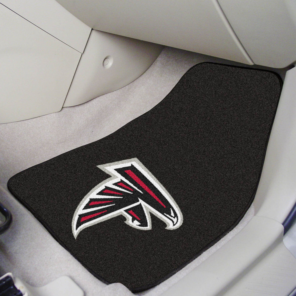 "NFL - 2-pc Carpet Car Mat Set, 17"" x 27"" NFL Mats, Front Car Mats, 2-pc Carpet Car Mat Set, NFL, Auto Fan Mats Atlanta Falcons"
