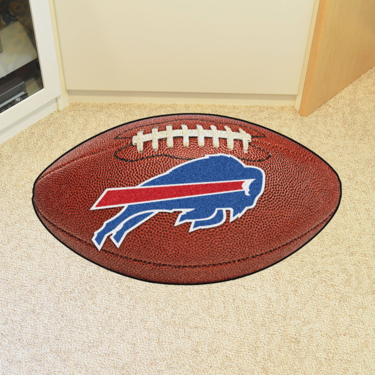 NFL - Football Mat NFL Mats, Custom Shape Rugs, Football Mat, NFL, Home Fan Mats Buffalo Bills
