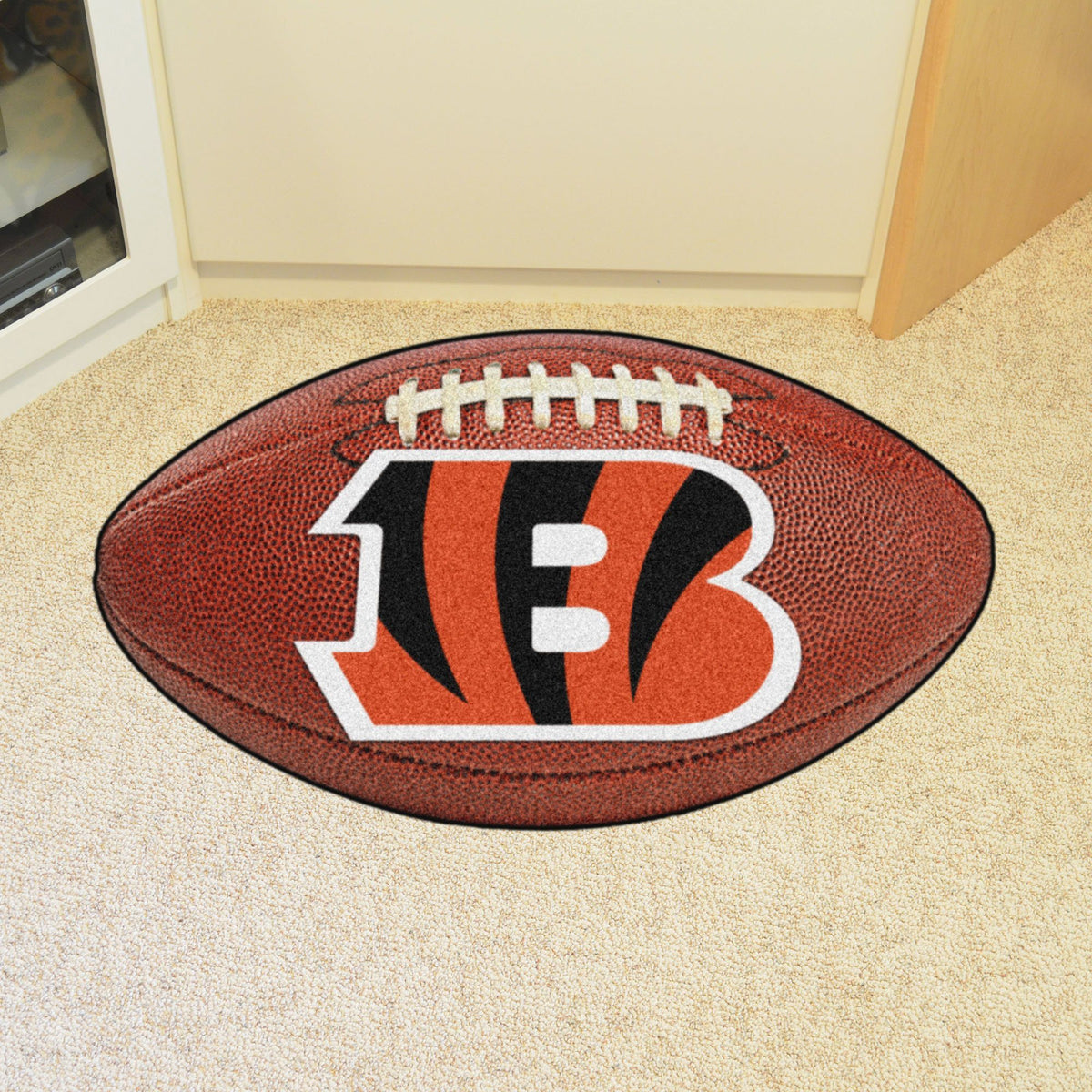 NFL - Football Mat NFL Mats, Custom Shape Rugs, Football Mat, NFL, Home Fan Mats Cincinnati Bengals
