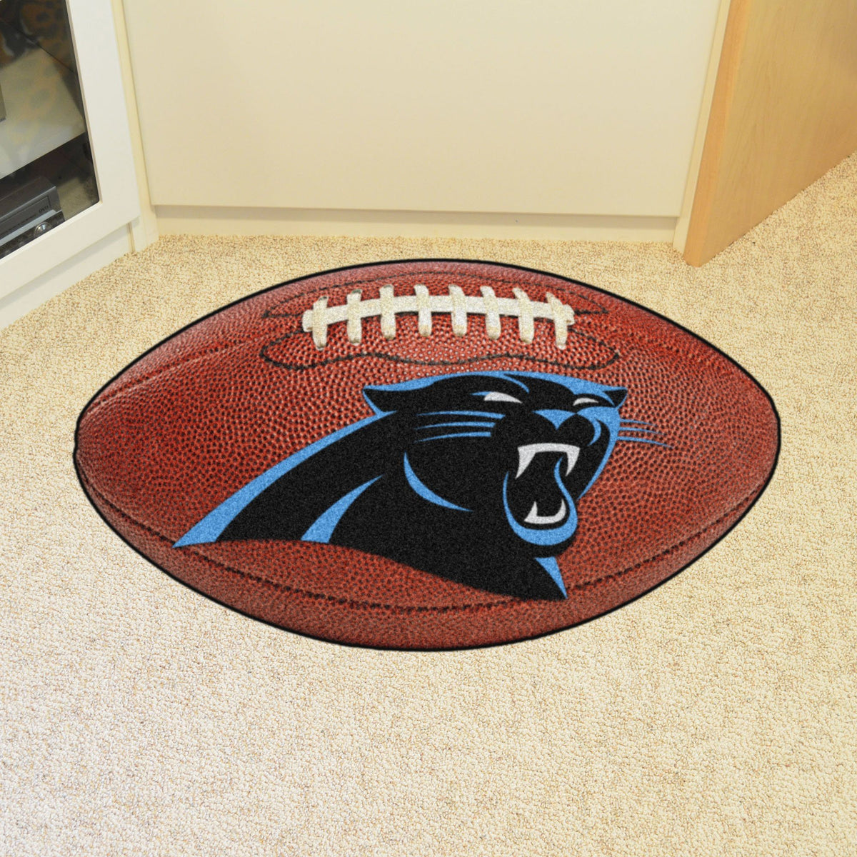 NFL - Football Mat NFL Mats, Custom Shape Rugs, Football Mat, NFL, Home Fan Mats Carolina Panthers