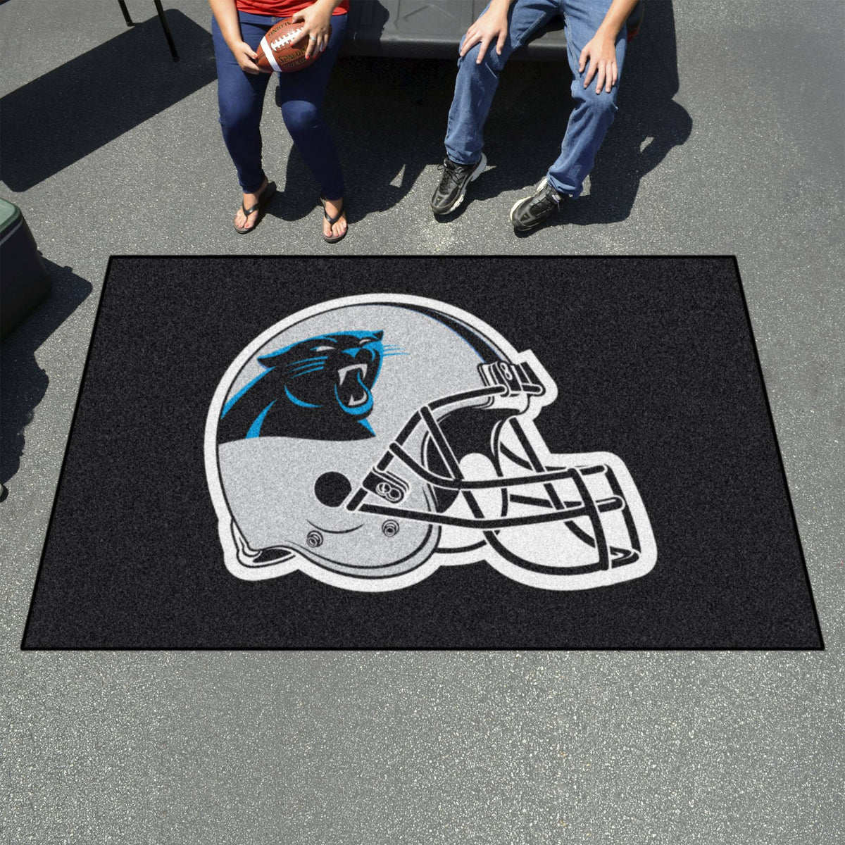 "NFL - Ulti-Mat, 59.5"" x 94.5"" NFL Mats, Rectangular Mats, Ulti-Mat, NFL, Home Fan Mats Carolina Panthers"