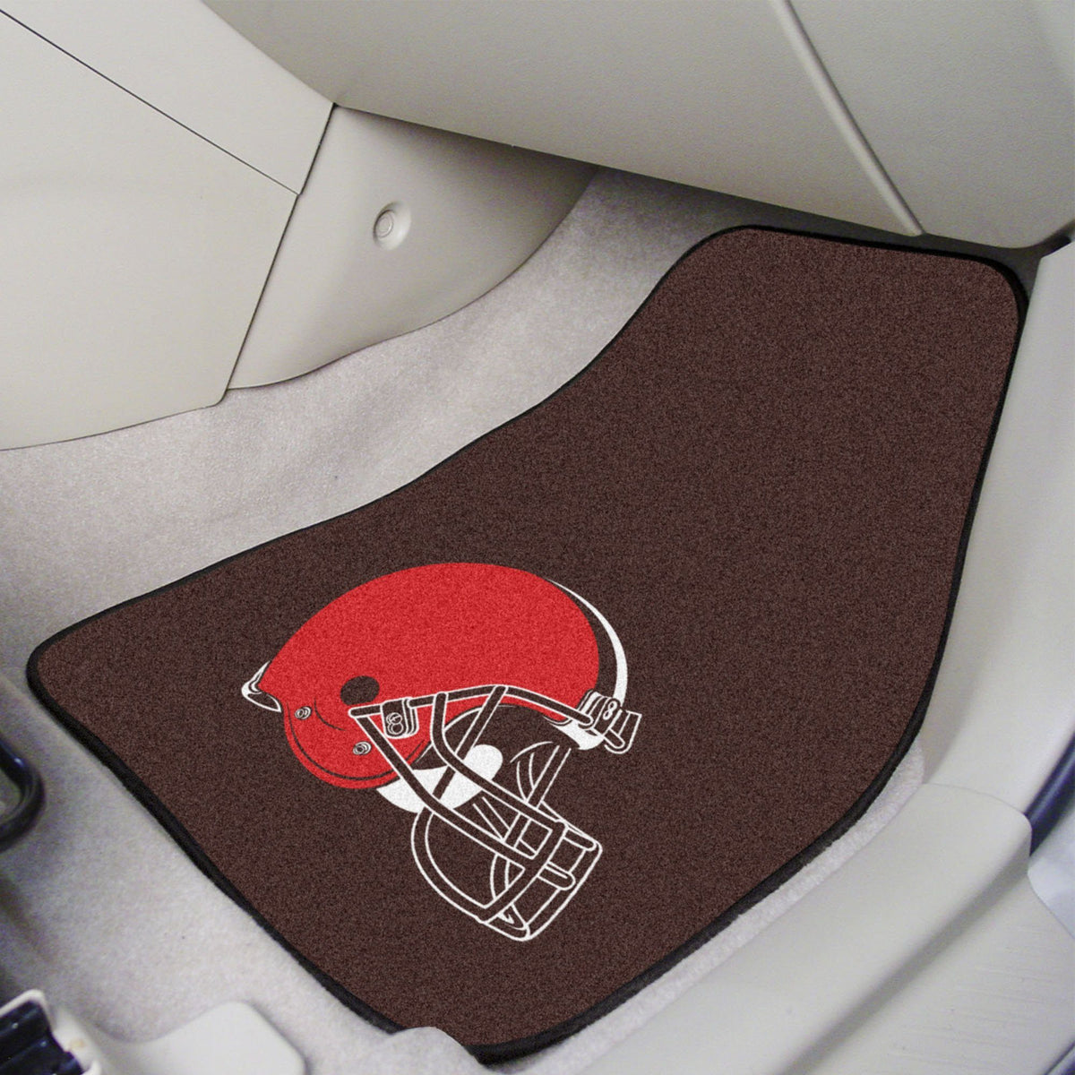 "NFL - 2-pc Carpet Car Mat Set, 17"" x 27"" NFL Mats, Front Car Mats, 2-pc Carpet Car Mat Set, NFL, Auto Fan Mats Cleveland Browns"