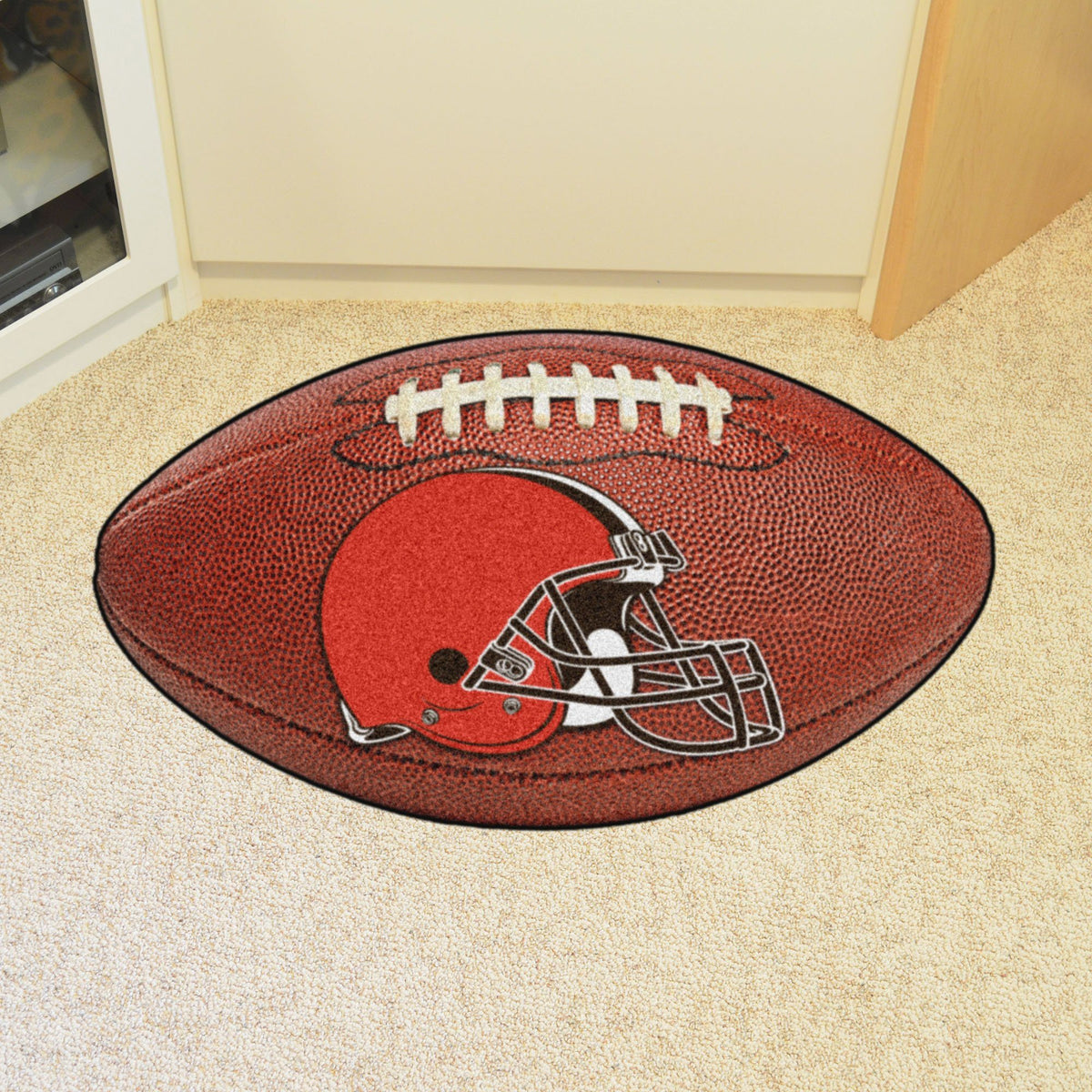 NFL - Football Mat NFL Mats, Custom Shape Rugs, Football Mat, NFL, Home Fan Mats Cleveland Browns