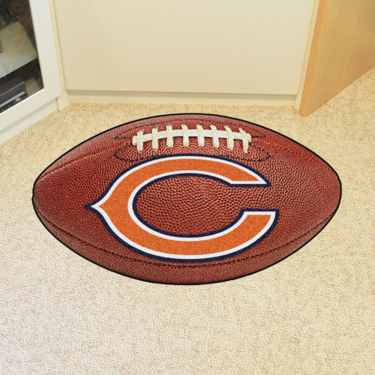 NFL - Football Mat NFL Mats, Custom Shape Rugs, Football Mat, NFL, Home Fan Mats Chicago Bears