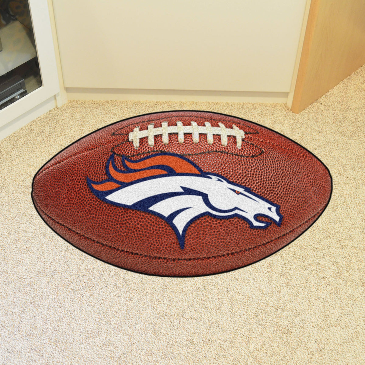 NFL - Football Mat NFL Mats, Custom Shape Rugs, Football Mat, NFL, Home Fan Mats Denver Broncos