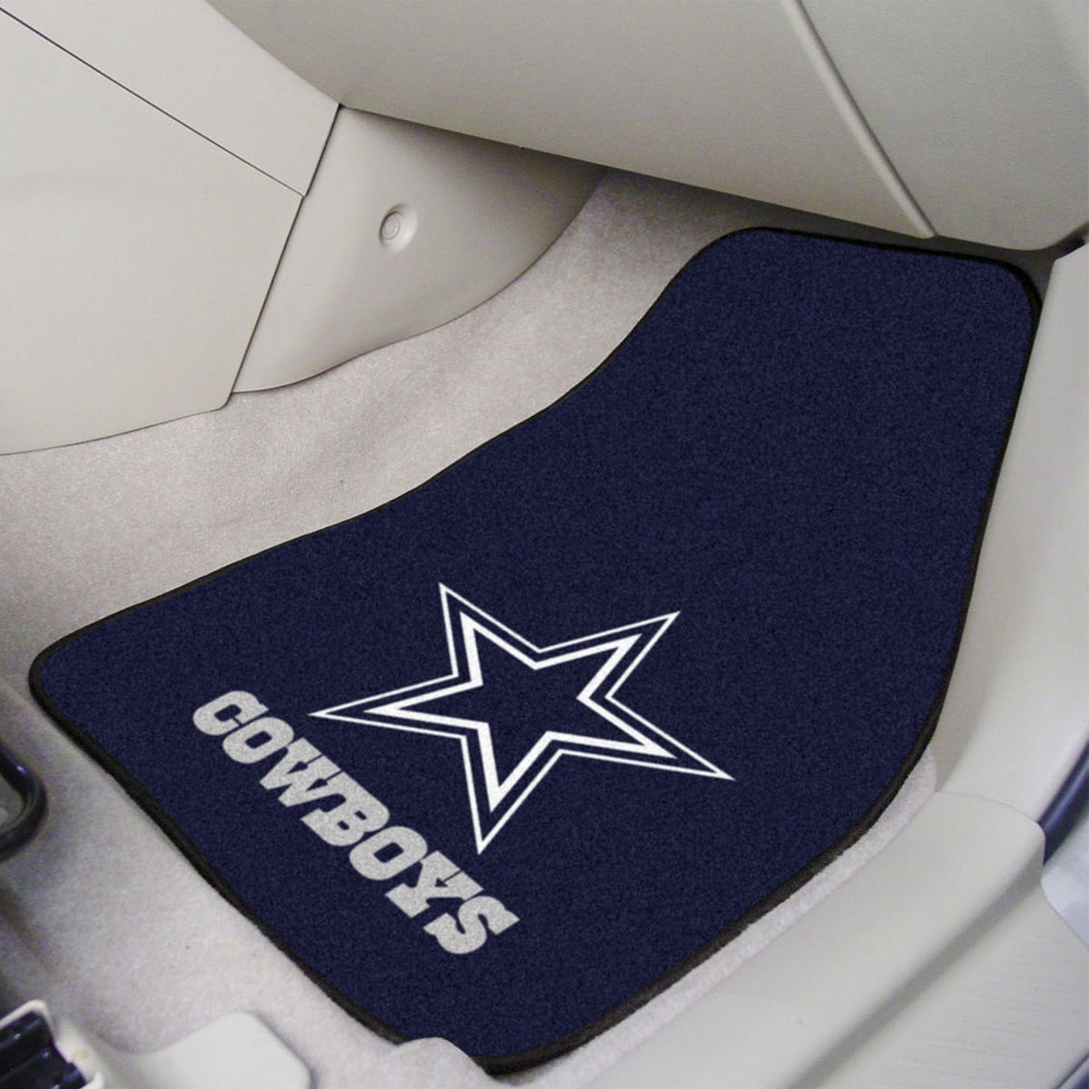 "NFL - 2-pc Carpet Car Mat Set, 17"" x 27"" NFL Mats, Front Car Mats, 2-pc Carpet Car Mat Set, NFL, Auto Fan Mats Dallas Cowboys"