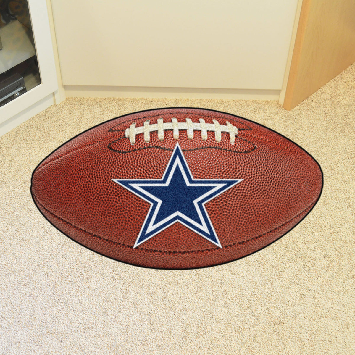 NFL - Football Mat NFL Mats, Custom Shape Rugs, Football Mat, NFL, Home Fan Mats Dallas Cowboys