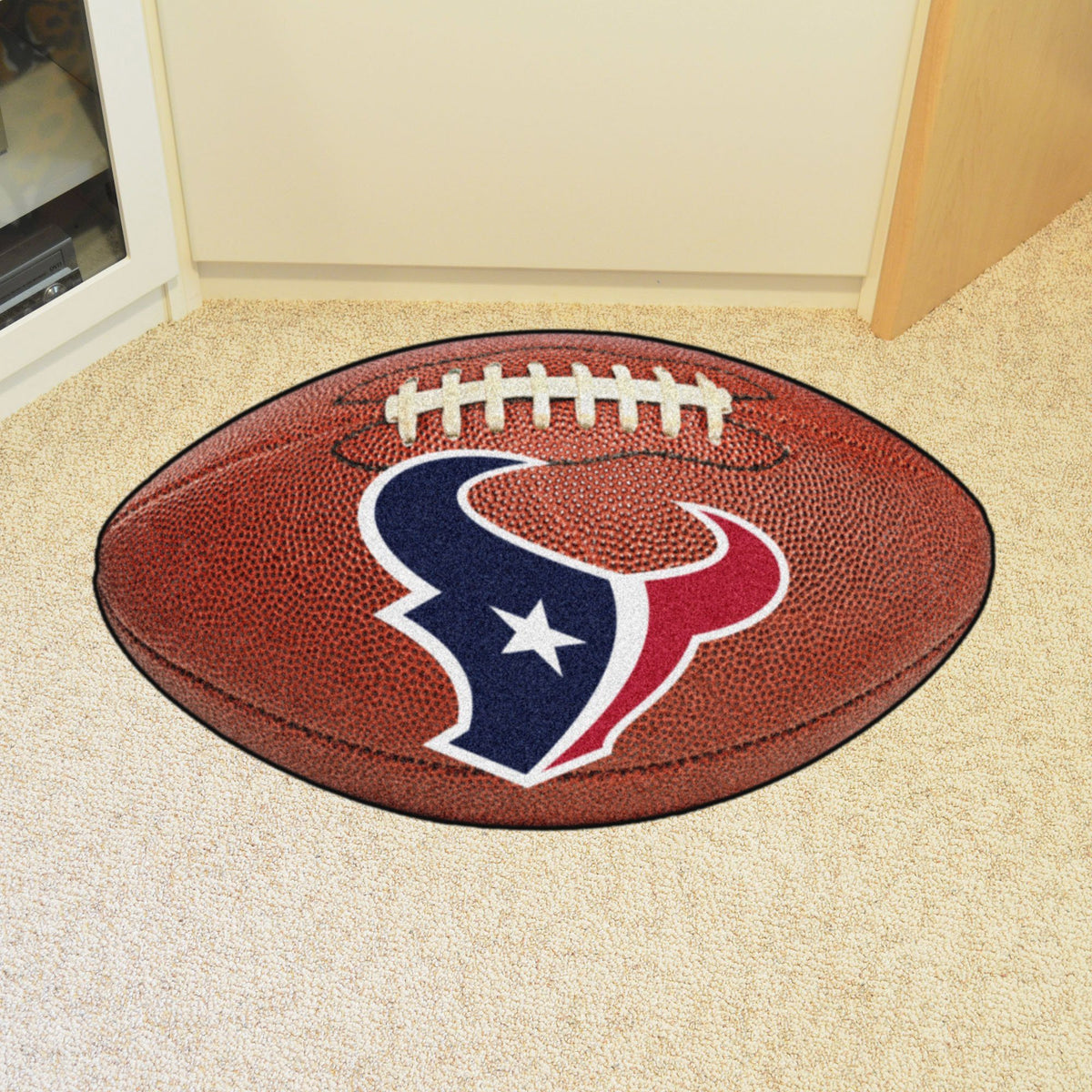 NFL - Football Mat NFL Mats, Custom Shape Rugs, Football Mat, NFL, Home Fan Mats Houston Texans