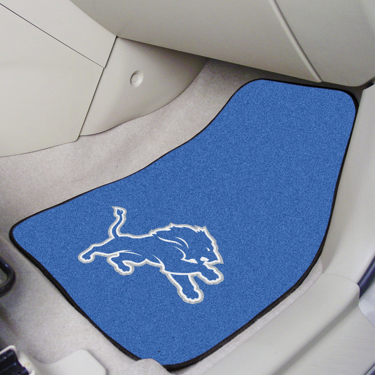 "NFL - 2-pc Carpet Car Mat Set, 17"" x 27"" NFL Mats, Front Car Mats, 2-pc Carpet Car Mat Set, NFL, Auto Fan Mats Detroit Lions"