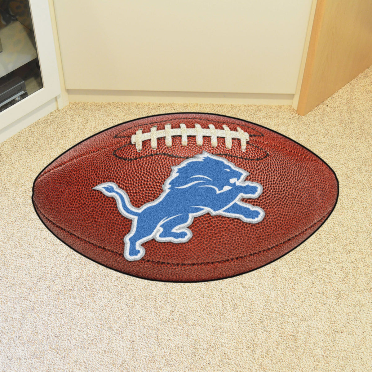 NFL - Football Mat NFL Mats, Custom Shape Rugs, Football Mat, NFL, Home Fan Mats Detroit Lions