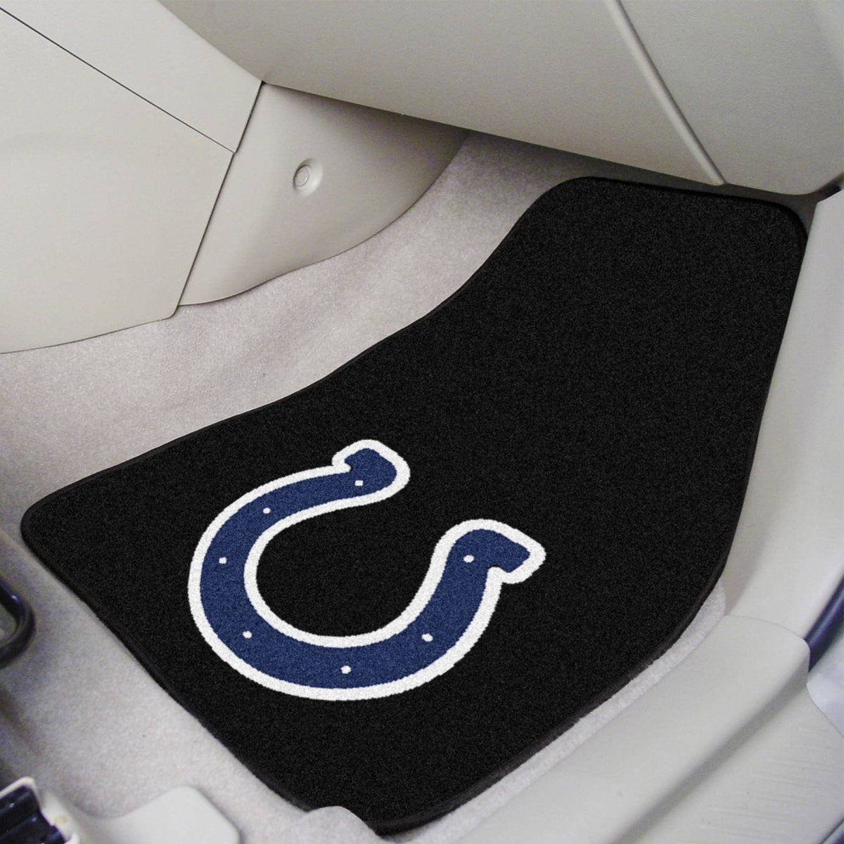 "NFL - 2-pc Carpet Car Mat Set, 17"" x 27"" NFL Mats, Front Car Mats, 2-pc Carpet Car Mat Set, NFL, Auto Fan Mats Indianapolis Colts"