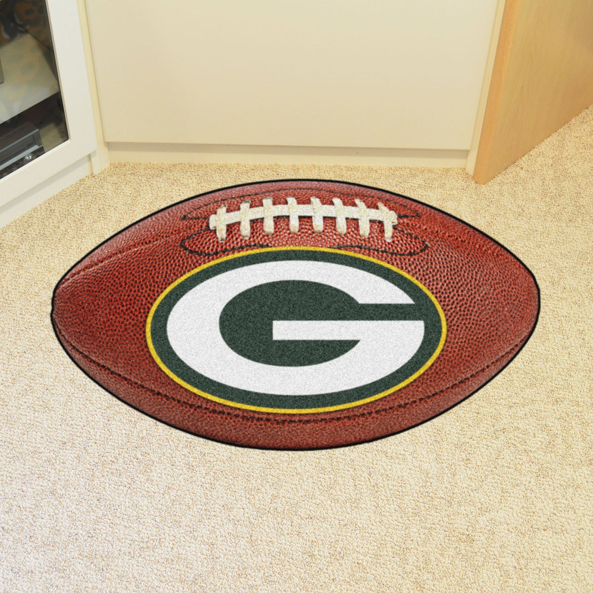 NFL - Football Mat NFL Mats, Custom Shape Rugs, Football Mat, NFL, Home Fan Mats Green Bay Packers