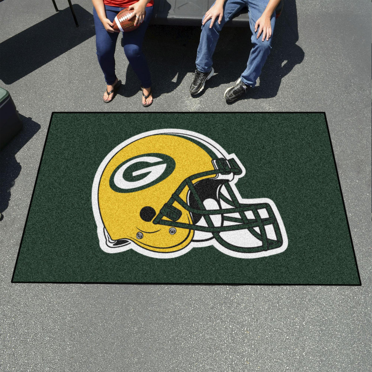 "NFL - Ulti-Mat, 59.5"" x 94.5"" NFL Mats, Rectangular Mats, Ulti-Mat, NFL, Home Fan Mats Green Bay Packers"