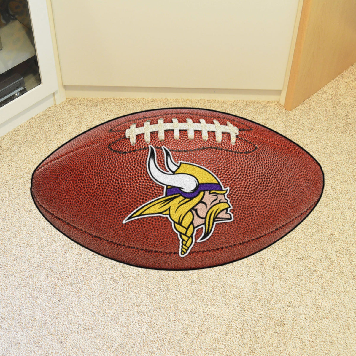 NFL - Football Mat NFL Mats, Custom Shape Rugs, Football Mat, NFL, Home Fan Mats Minnesota Vikings