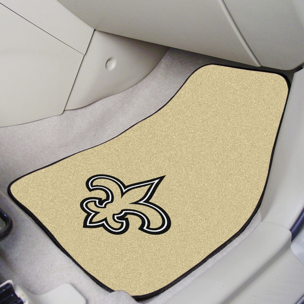 "NFL - 2-pc Carpet Car Mat Set, 17"" x 27"" NFL Mats, Front Car Mats, 2-pc Carpet Car Mat Set, NFL, Auto Fan Mats New Orleans Saints"