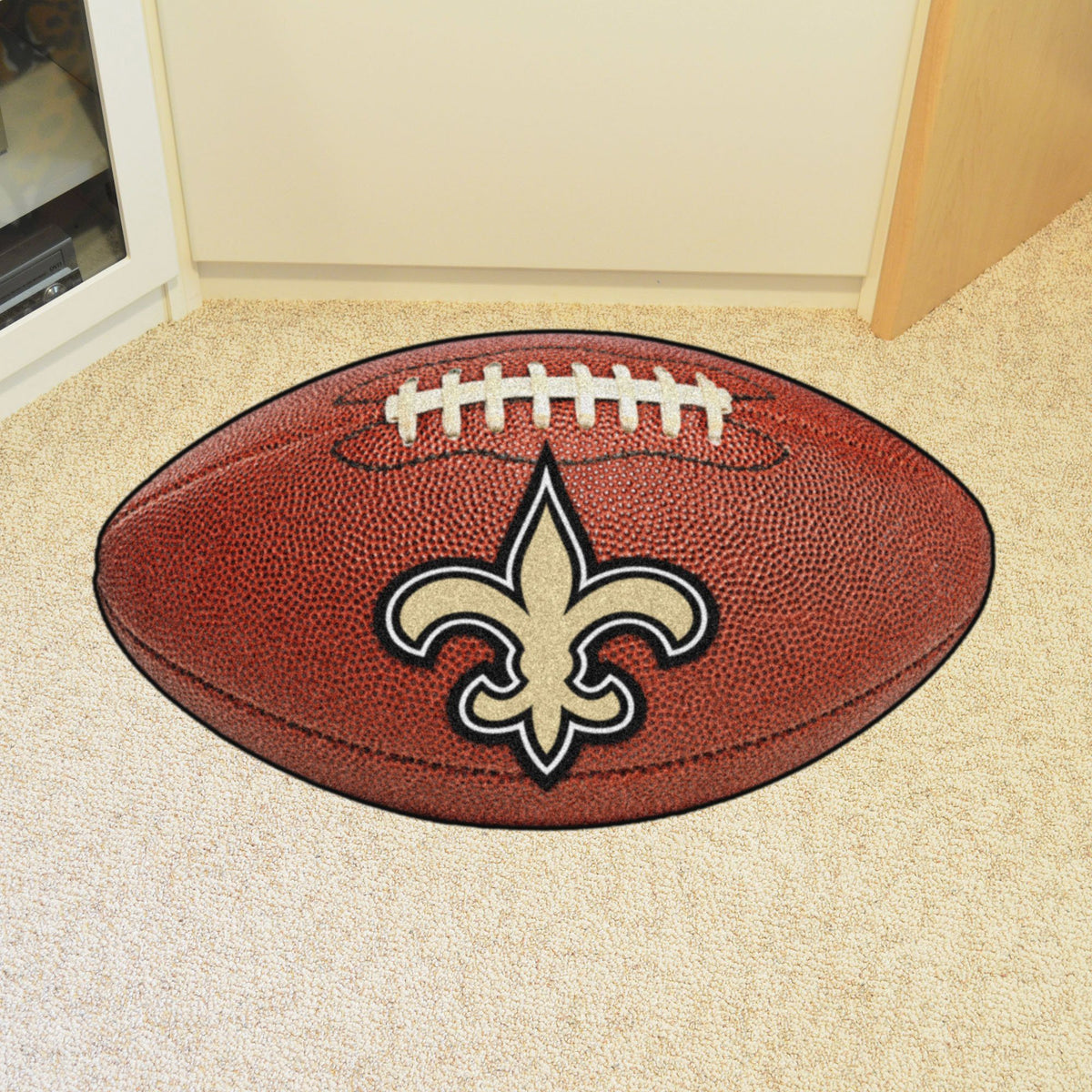 NFL - Football Mat NFL Mats, Custom Shape Rugs, Football Mat, NFL, Home Fan Mats New Orleans Saints