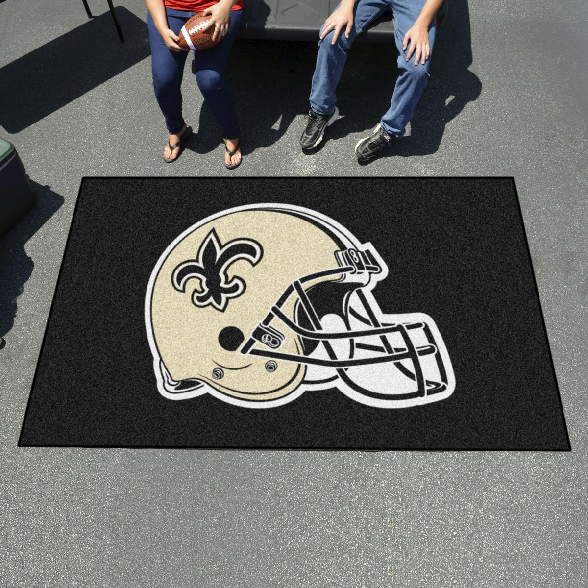 "NFL - Ulti-Mat, 59.5"" x 94.5"" NFL Mats, Rectangular Mats, Ulti-Mat, NFL, Home Fan Mats New Orleans Saints"