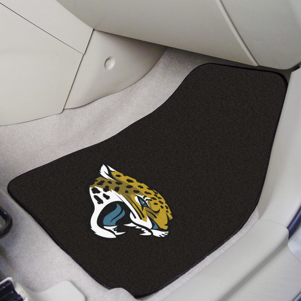 "NFL - 2-pc Carpet Car Mat Set, 17"" x 27"" NFL Mats, Front Car Mats, 2-pc Carpet Car Mat Set, NFL, Auto Fan Mats Jacksonville Jaguars"