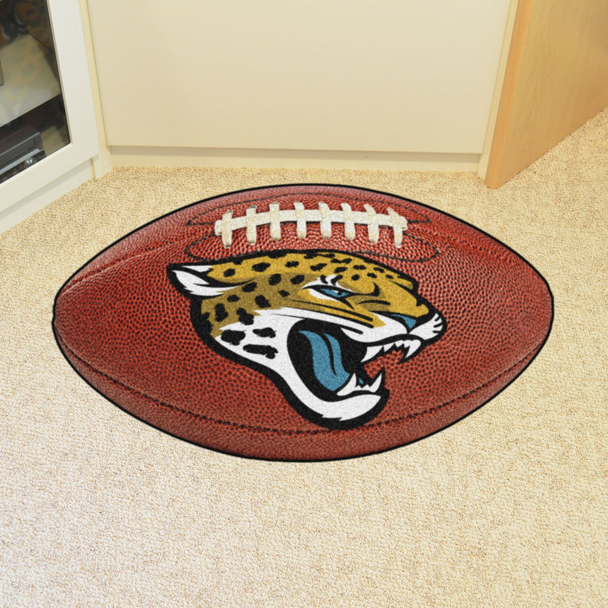 NFL - Football Mat NFL Mats, Custom Shape Rugs, Football Mat, NFL, Home Fan Mats Jacksonville Jaguars