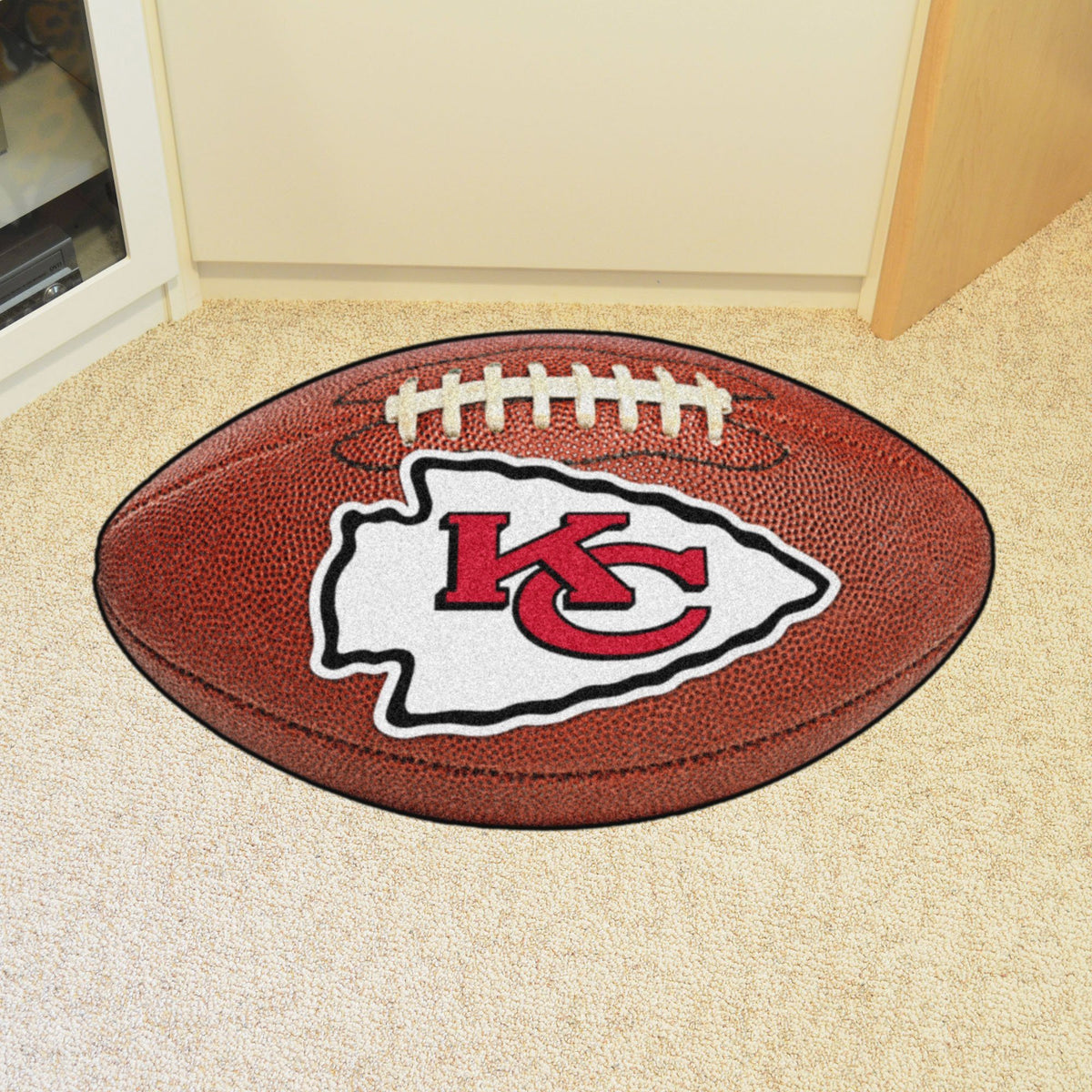 NFL - Football Mat NFL Mats, Custom Shape Rugs, Football Mat, NFL, Home Fan Mats Kansas City Chiefs