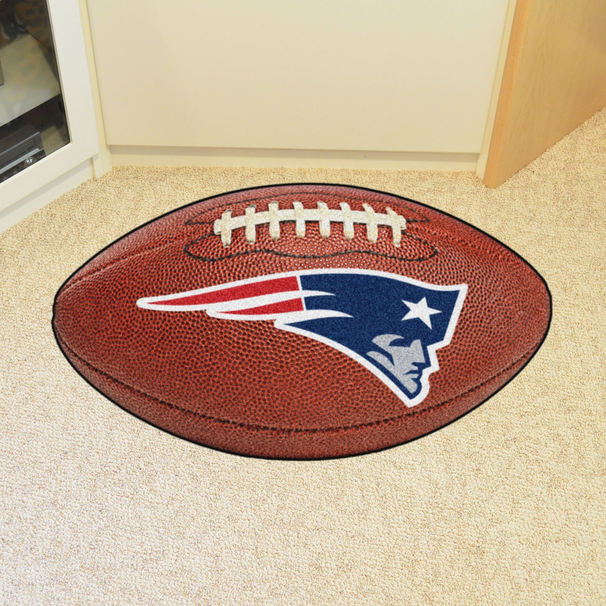 NFL - Football Mat NFL Mats, Custom Shape Rugs, Football Mat, NFL, Home Fan Mats New England Patriots