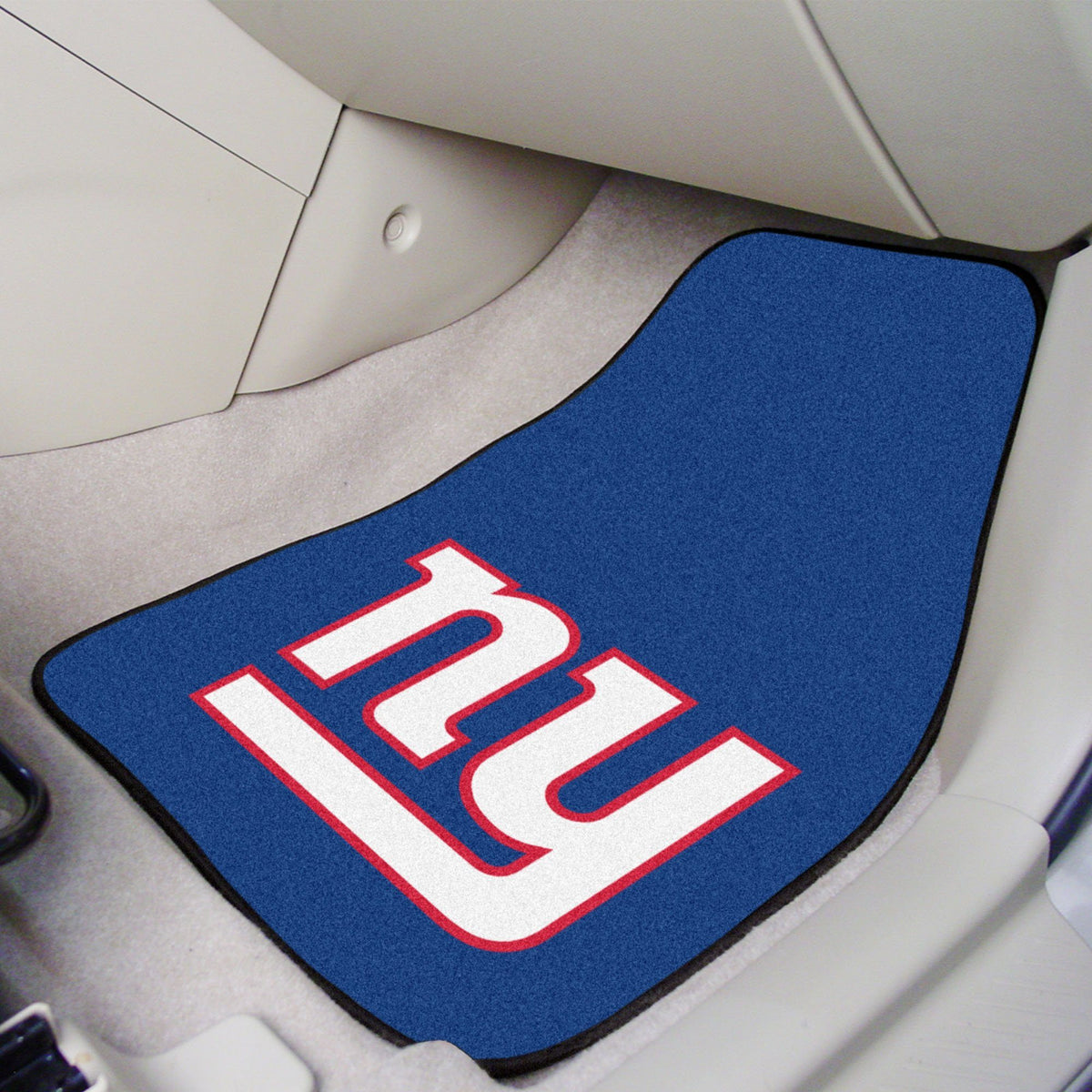 "NFL - 2-pc Carpet Car Mat Set, 17"" x 27"" NFL Mats, Front Car Mats, 2-pc Carpet Car Mat Set, NFL, Auto Fan Mats New York Giants"
