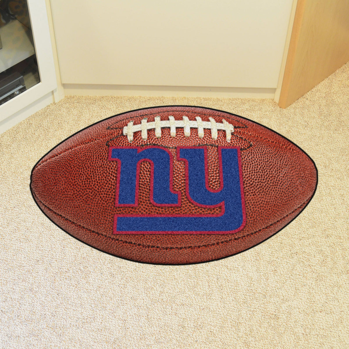 NFL - Football Mat NFL Mats, Custom Shape Rugs, Football Mat, NFL, Home Fan Mats New York Giants