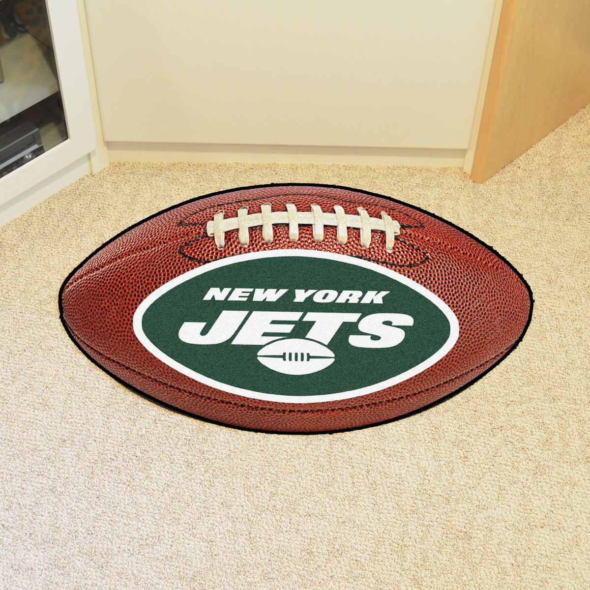 NFL - Football Mat NFL Mats, Custom Shape Rugs, Football Mat, NFL, Home Fan Mats New York Jets
