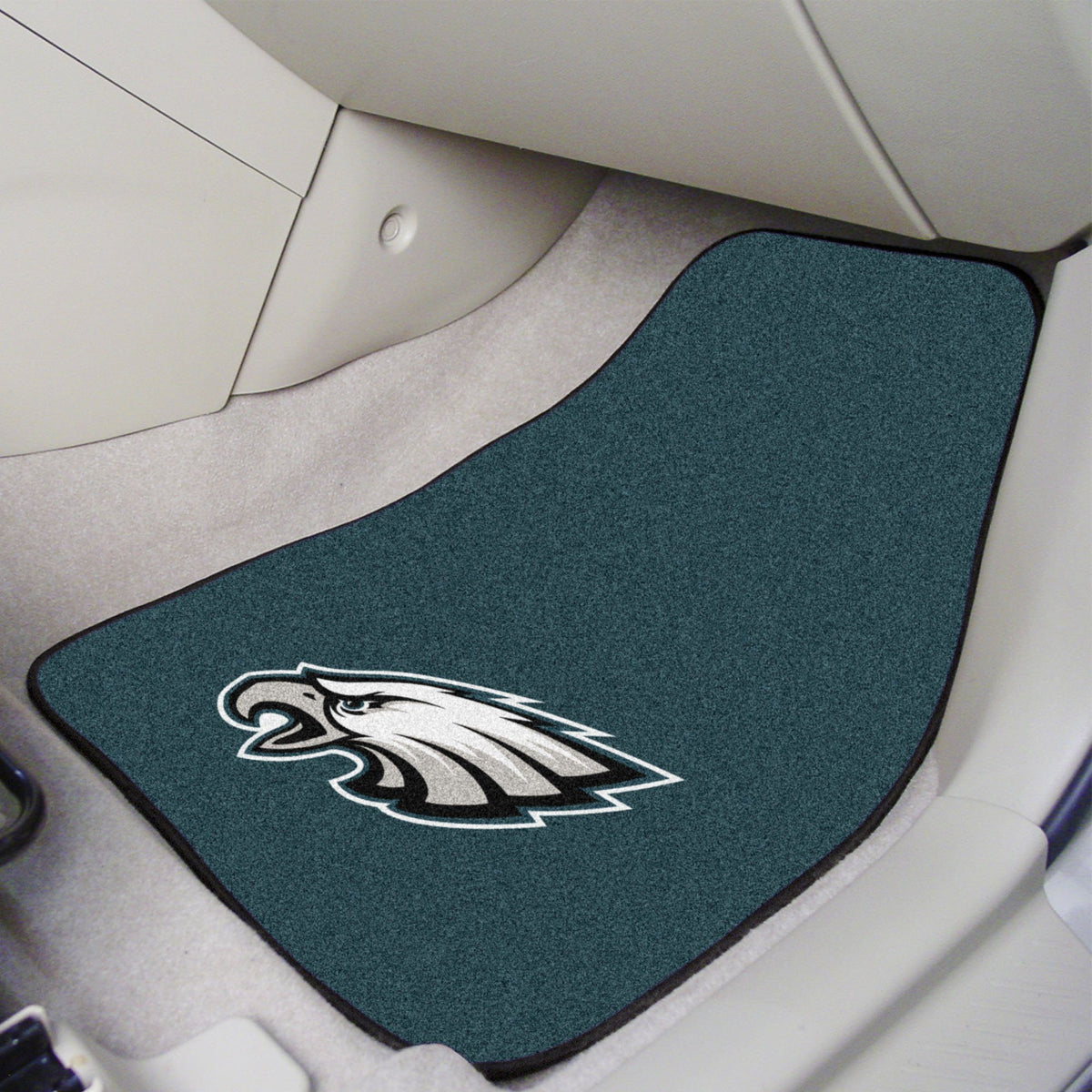 "NFL - 2-pc Carpet Car Mat Set, 17"" x 27"" NFL Mats, Front Car Mats, 2-pc Carpet Car Mat Set, NFL, Auto Fan Mats Philadelphia Eagles"