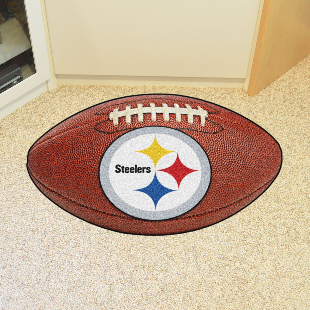 NFL - Football Mat NFL Mats, Custom Shape Rugs, Football Mat, NFL, Home Fan Mats Pittsburgh Steelers
