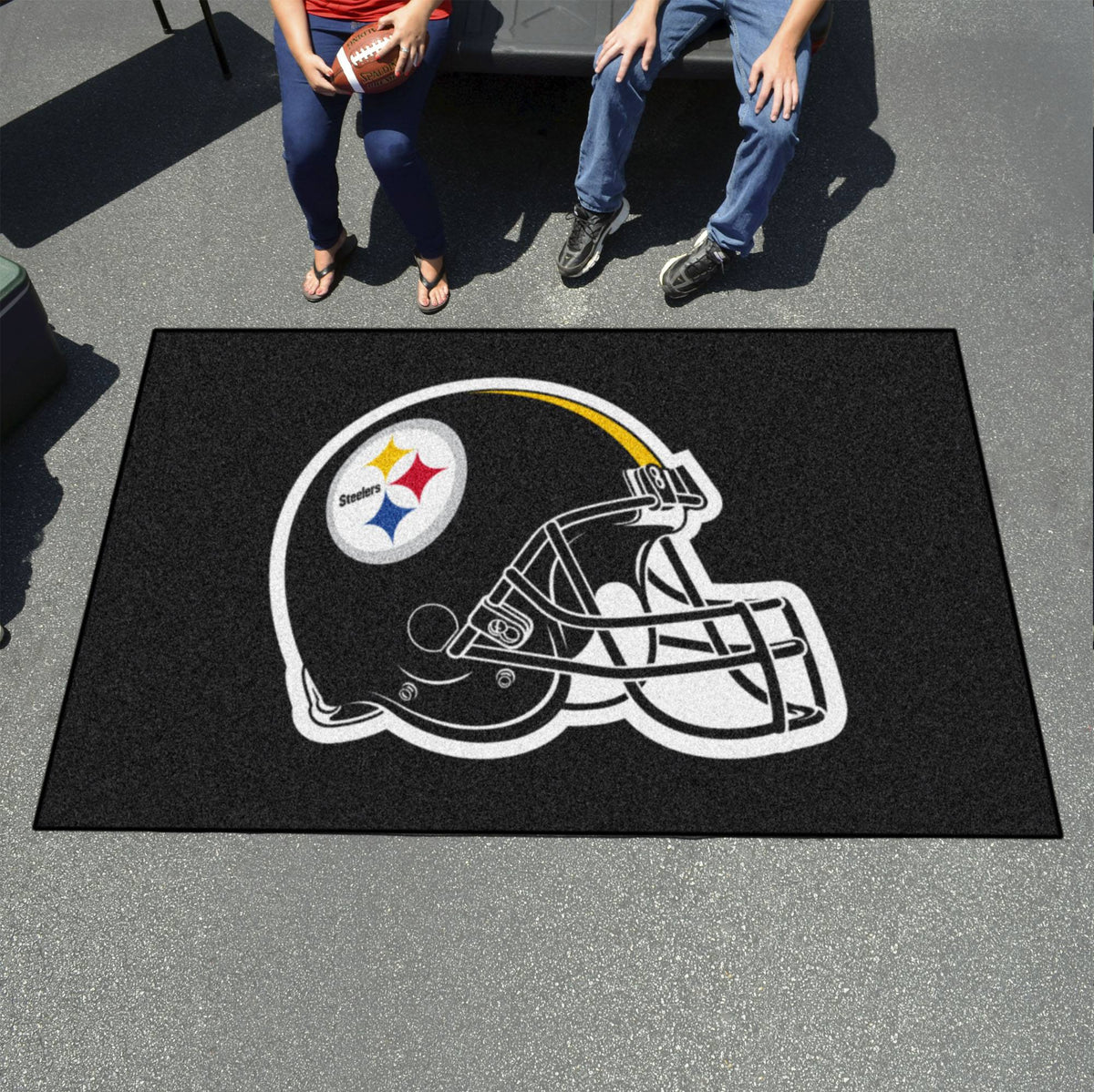 "NFL - Ulti-Mat, 59.5"" x 94.5"" NFL Mats, Rectangular Mats, Ulti-Mat, NFL, Home Fan Mats Pittsburgh Steelers"