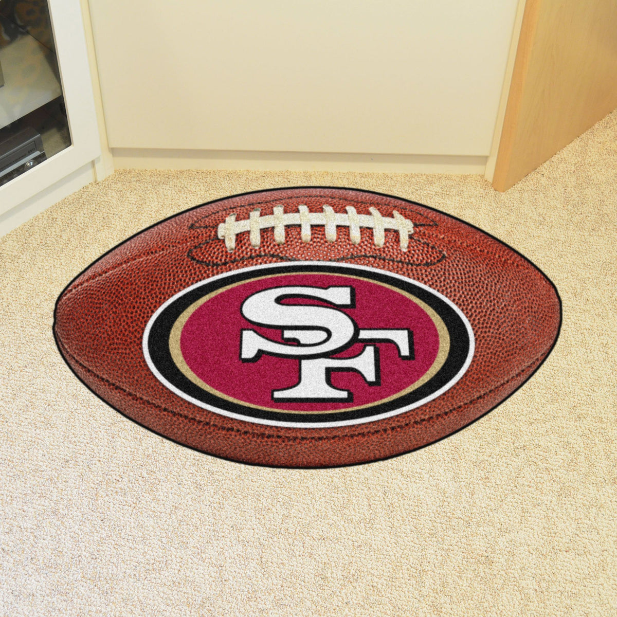 NFL - Football Mat NFL Mats, Custom Shape Rugs, Football Mat, NFL, Home Fan Mats San Francisco 49ers