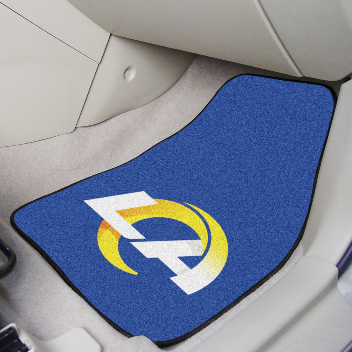 "NFL - 2-pc Carpet Car Mat Set, 17"" x 27"" NFL Mats, Front Car Mats, 2-pc Carpet Car Mat Set, NFL, Auto Fan Mats Los Angeles Rams"