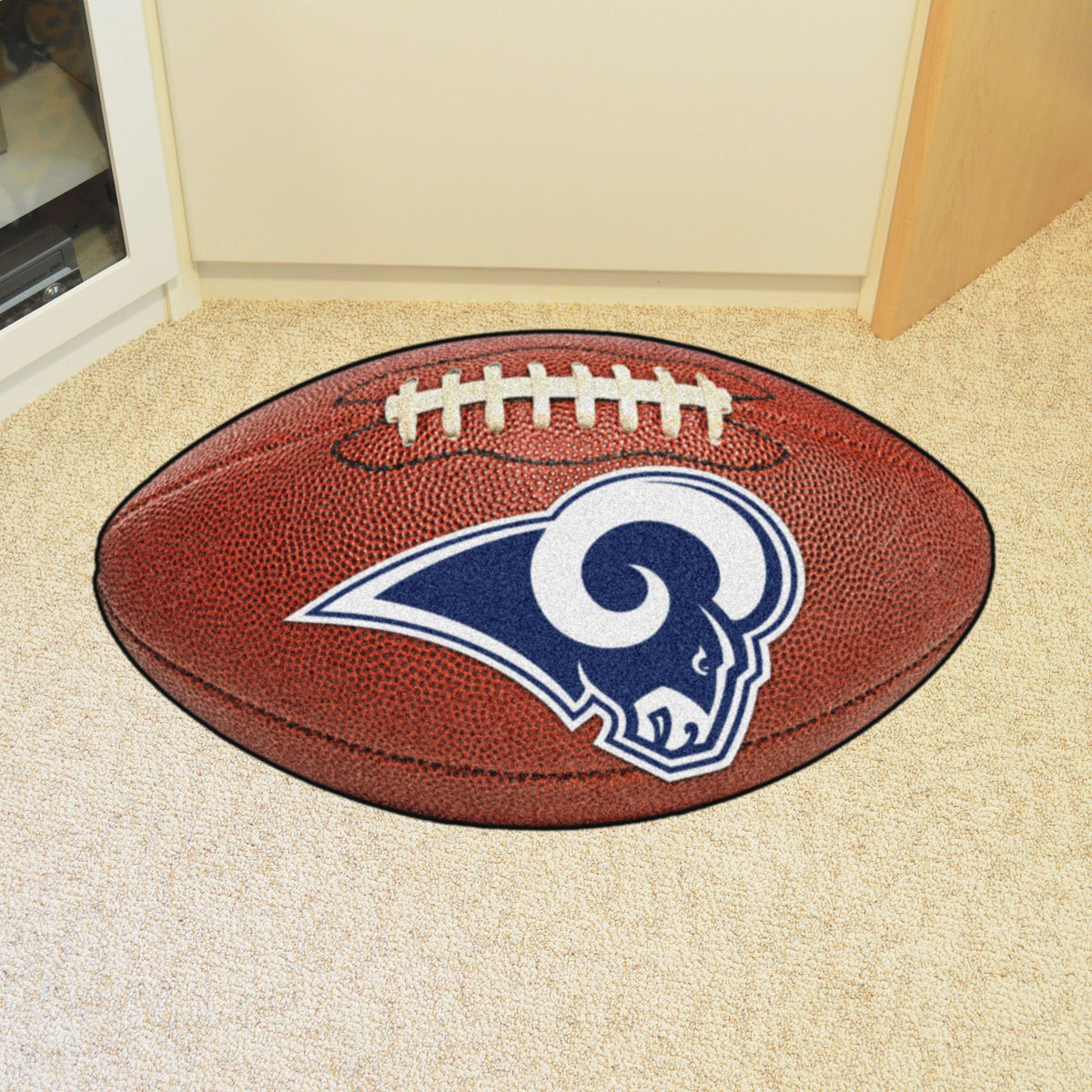 NFL - Football Mat NFL Mats, Custom Shape Rugs, Football Mat, NFL, Home Fan Mats Los Angeles Rams