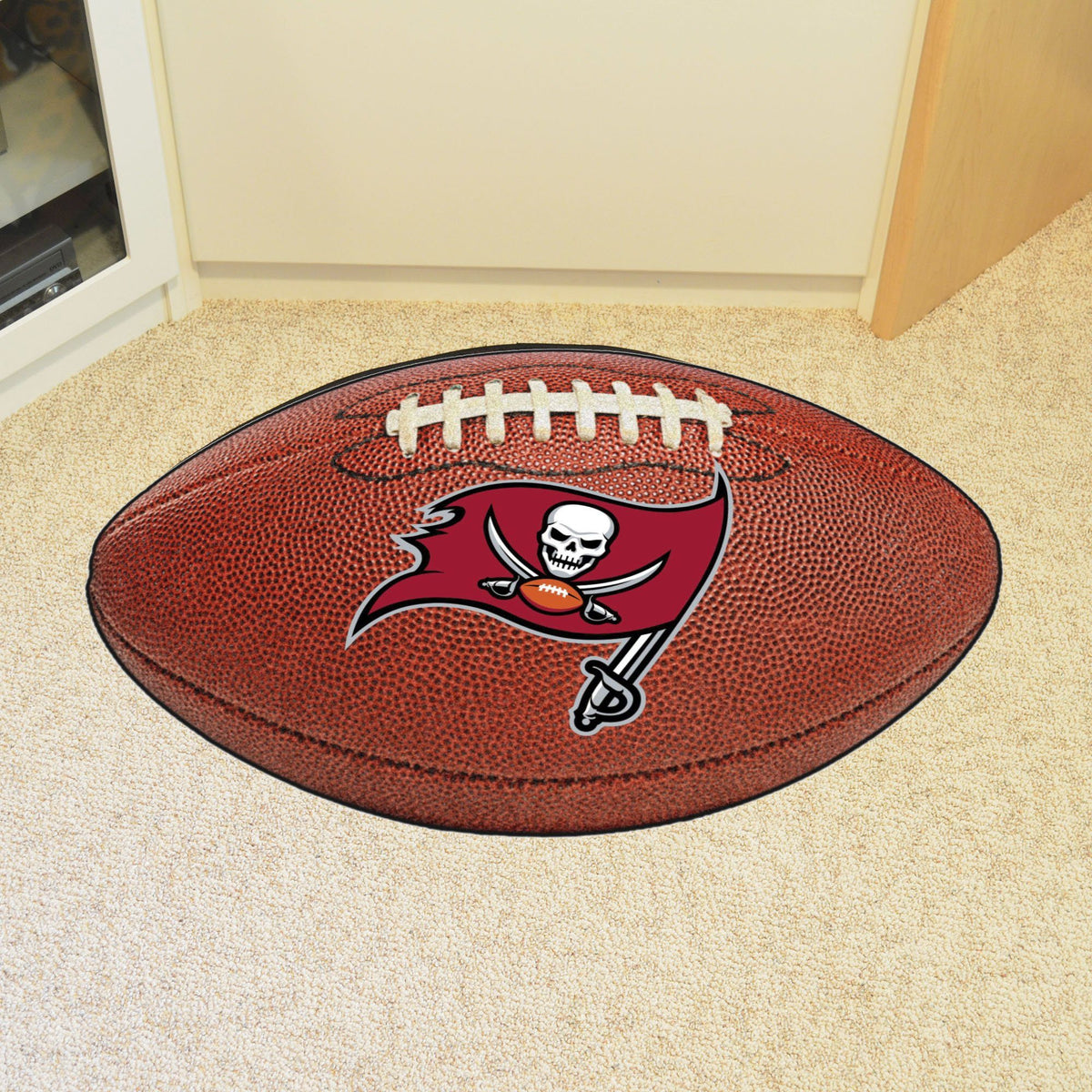 NFL - Football Mat NFL Mats, Custom Shape Rugs, Football Mat, NFL, Home Fan Mats Tampa Bay Buccaneers