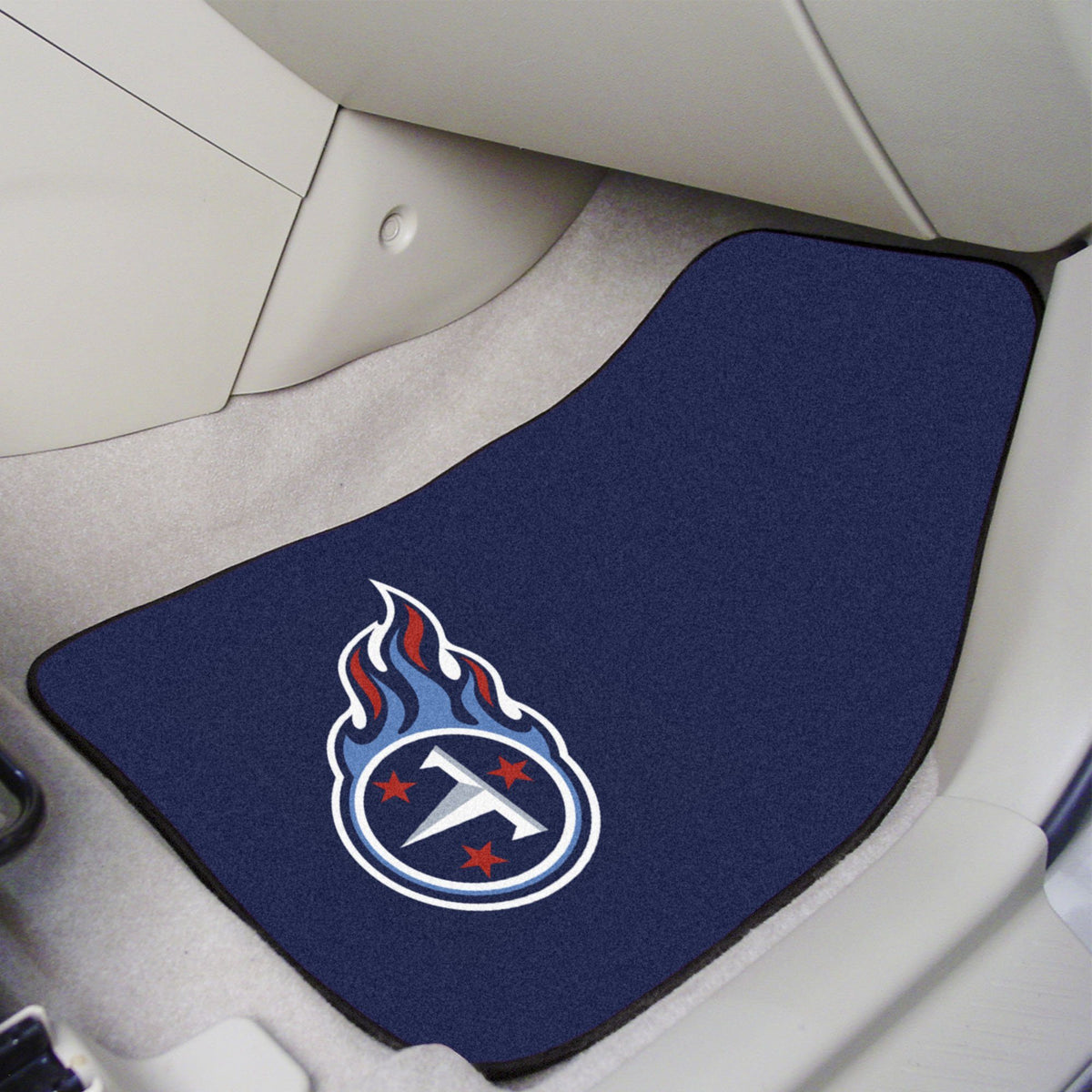 "NFL - 2-pc Carpet Car Mat Set, 17"" x 27"" NFL Mats, Front Car Mats, 2-pc Carpet Car Mat Set, NFL, Auto Fan Mats Tennessee Titans"