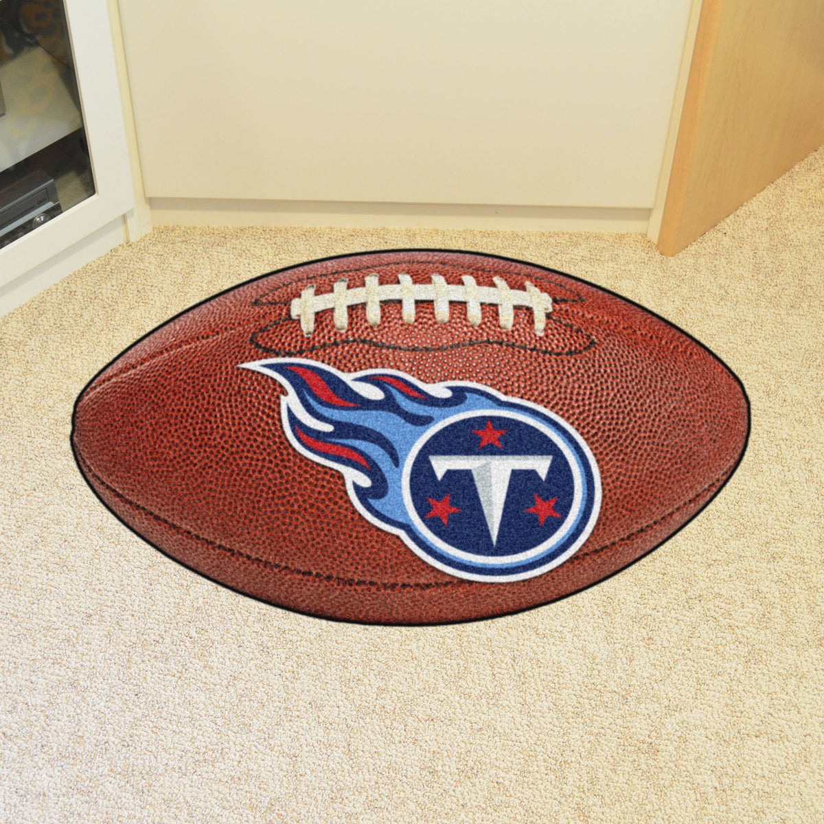 NFL - Football Mat NFL Mats, Custom Shape Rugs, Football Mat, NFL, Home Fan Mats Tennessee Titans