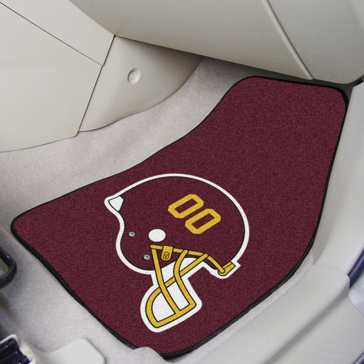 "NFL - 2-pc Carpet Car Mat Set, 17"" x 27"" NFL Mats, Front Car Mats, 2-pc Carpet Car Mat Set, NFL, Auto Fan Mats Washington Redskins"