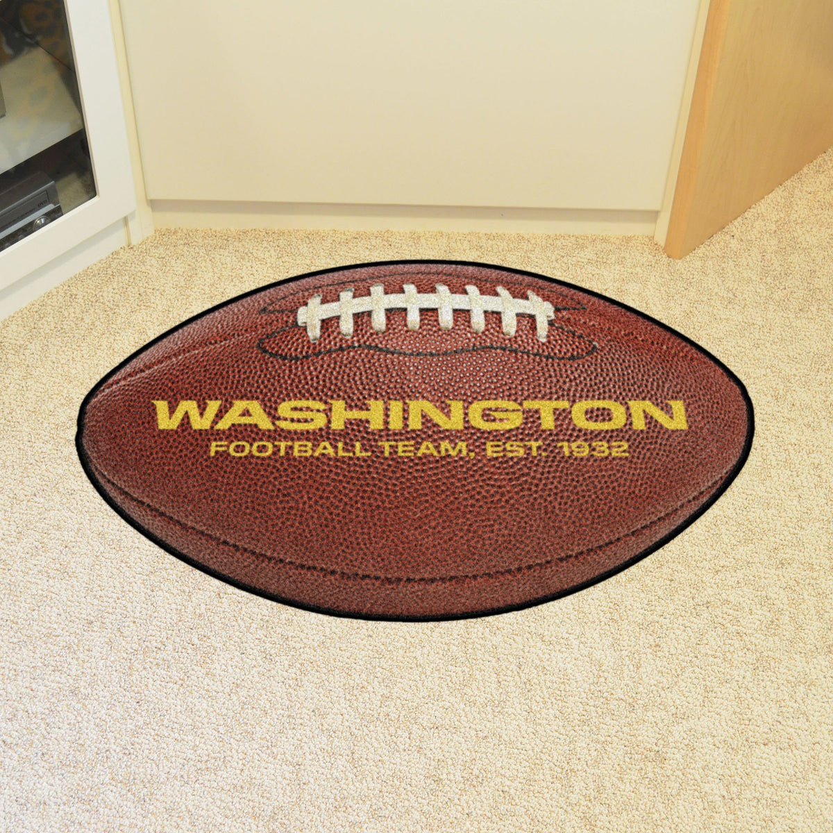 NFL - Football Mat NFL Mats, Custom Shape Rugs, Football Mat, NFL, Home Fan Mats Washington Redskins