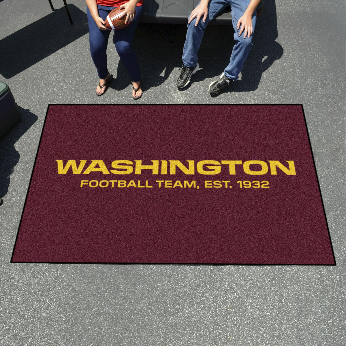 "NFL - Ulti-Mat, 59.5"" x 94.5"" NFL Mats, Rectangular Mats, Ulti-Mat, NFL, Home Fan Mats Washington Redskins"