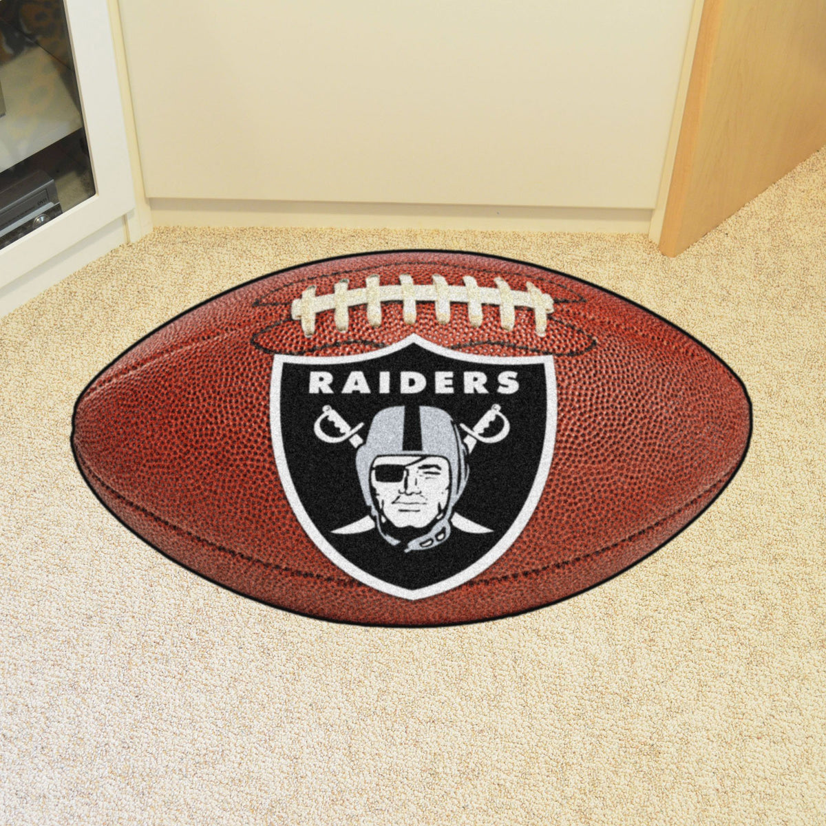 NFL - Football Mat NFL Mats, Custom Shape Rugs, Football Mat, NFL, Home Fan Mats Las Vegas Raiders