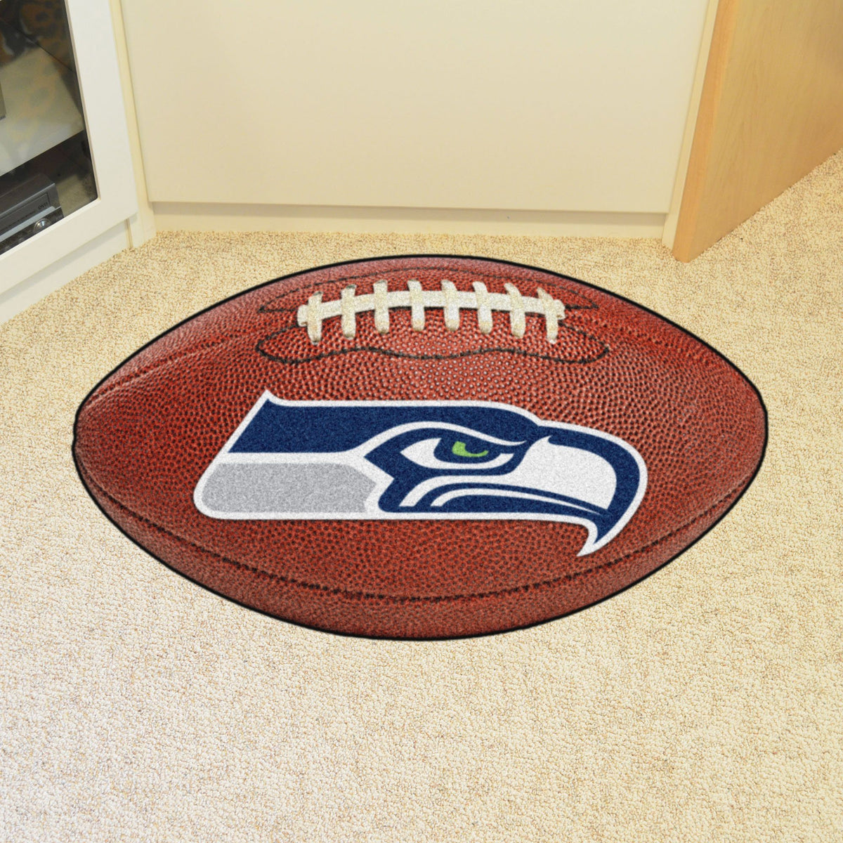 NFL - Football Mat NFL Mats, Custom Shape Rugs, Football Mat, NFL, Home Fan Mats Seattle Seahawks