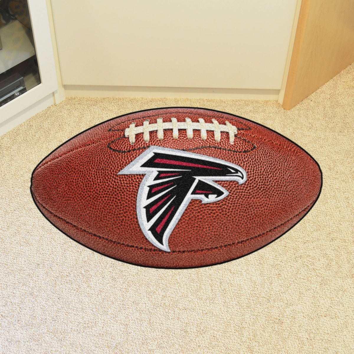 NFL - Football Mat NFL Mats, Custom Shape Rugs, Football Mat, NFL, Home Fan Mats Atlanta Falcons