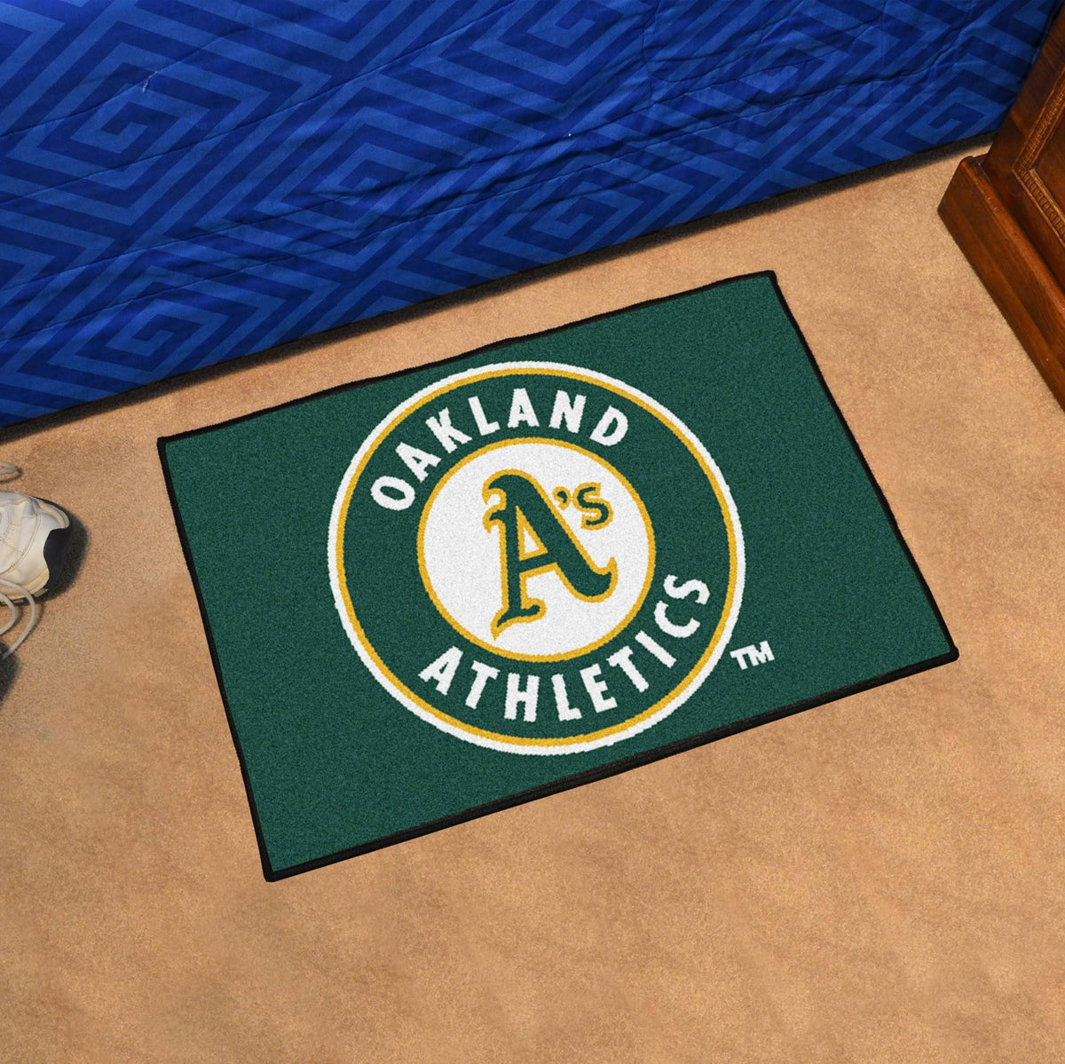 MLB - Starter Mat MLB Mats, Rectangular Mats, Starter Mat, MLB, Home Fan Mats Oakland Athletics
