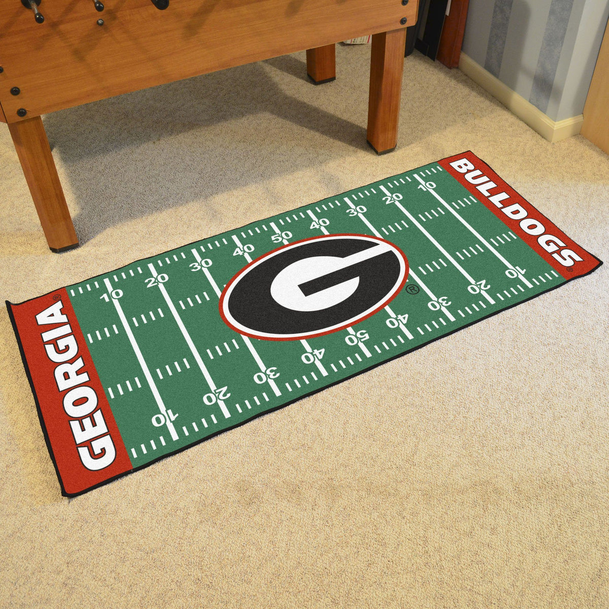 Collegiate - Football Field Runner Collegiate Mats, Rectangular Mats, Football Field Runner, Collegiate, Home Fan Mats Georgia