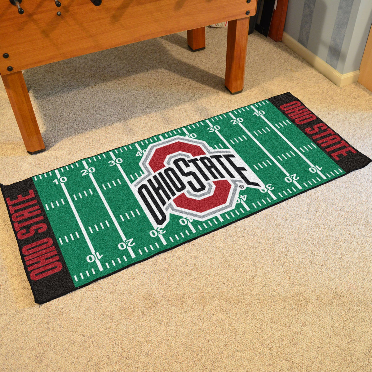 Collegiate - Football Field Runner Collegiate Mats, Rectangular Mats, Football Field Runner, Collegiate, Home Fan Mats Ohio State