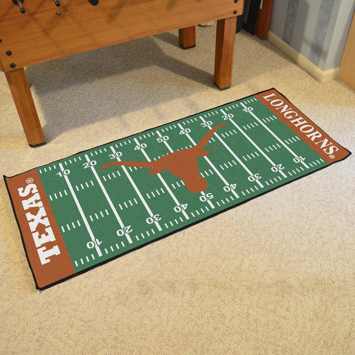 Collegiate - Football Field Runner Collegiate Mats, Rectangular Mats, Football Field Runner, Collegiate, Home Fan Mats Texas