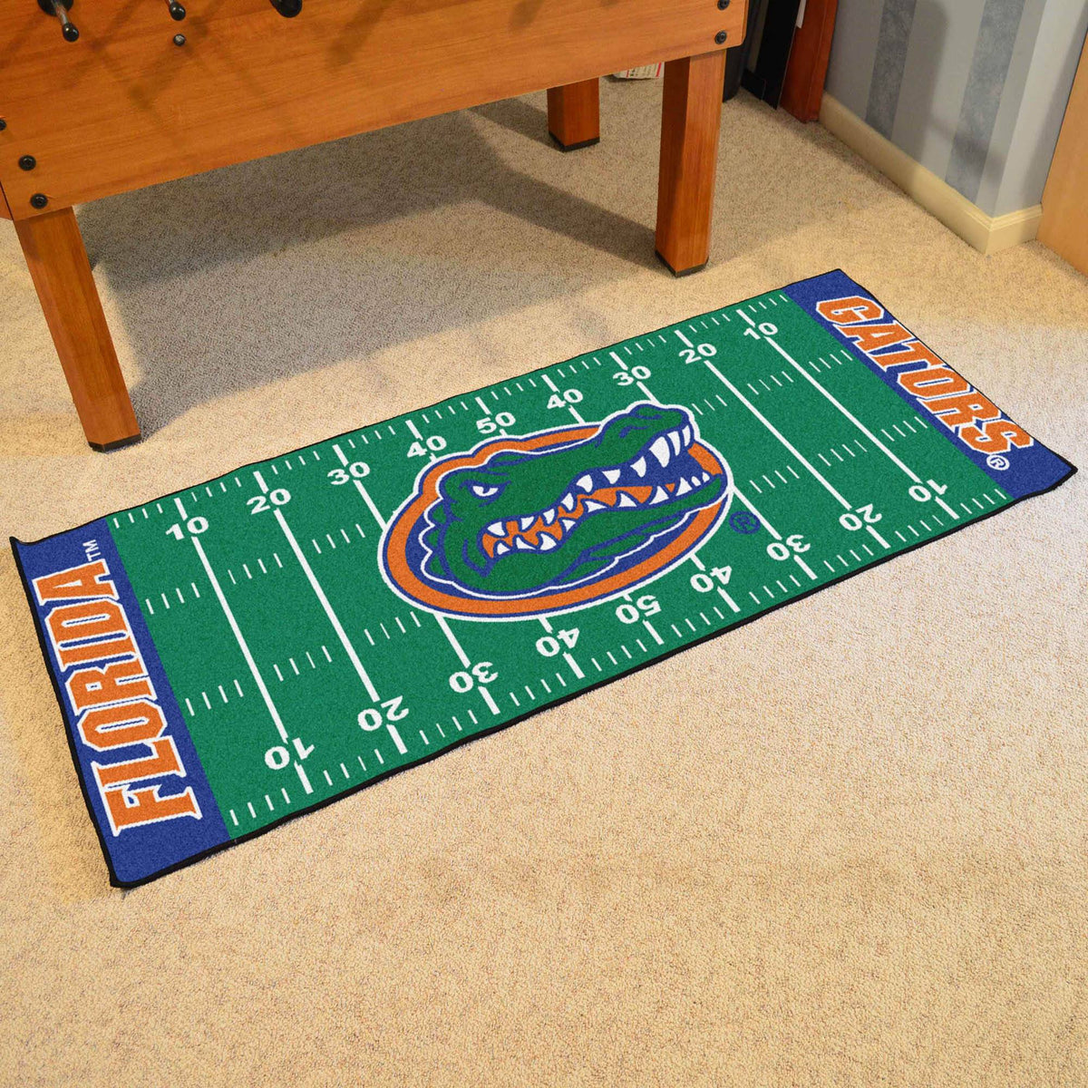 Collegiate - Football Field Runner Collegiate Mats, Rectangular Mats, Football Field Runner, Collegiate, Home Fan Mats Florida